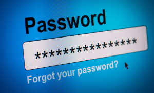 Create a strong password and remember it